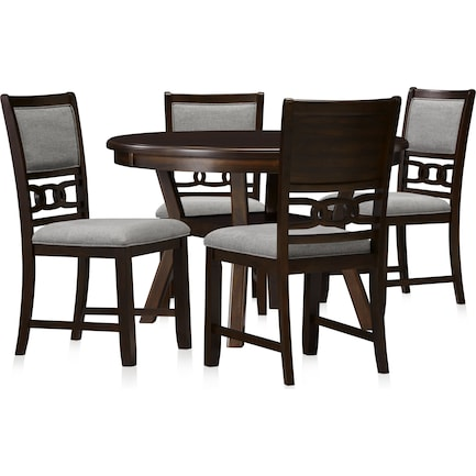 Pearson Dining Table and 4 Dining Chairs - Cocoa