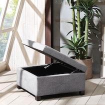 perris gray ottoman