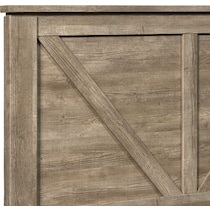 perry light brown king panel bed