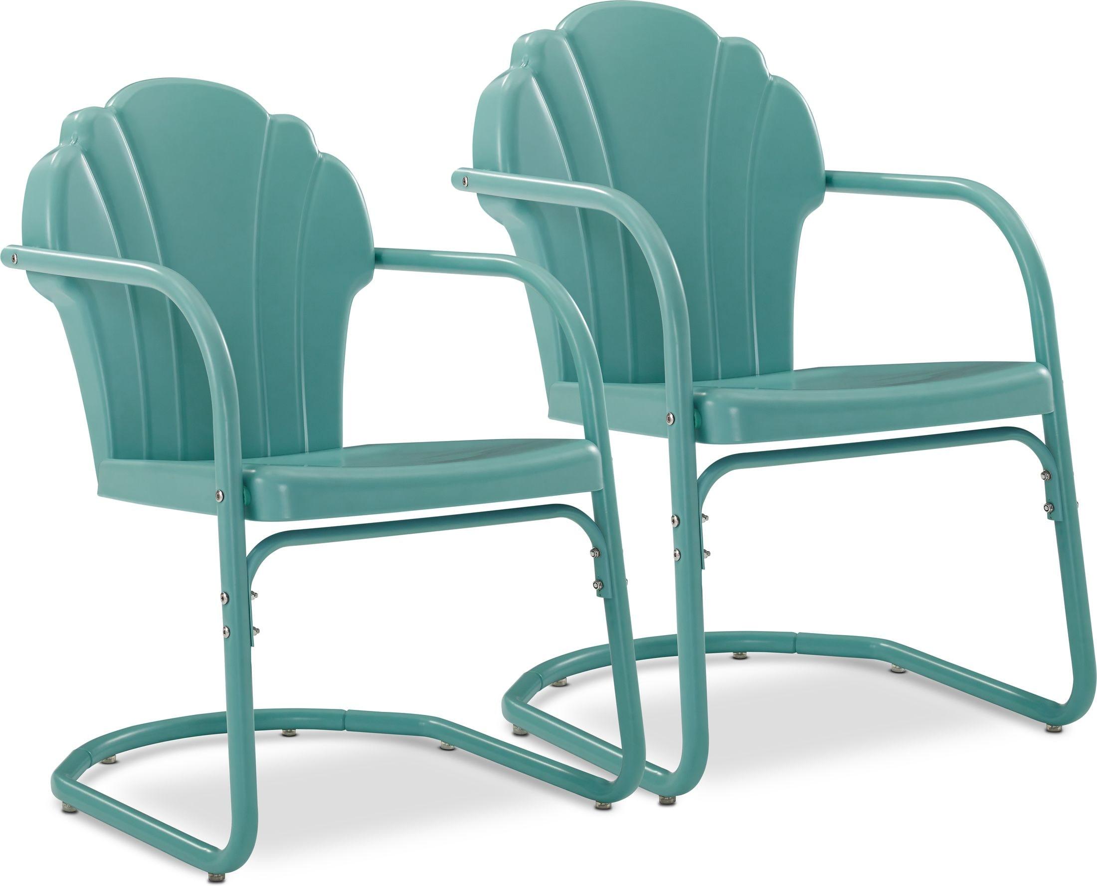 Outdoor Furniture - Petal Retro Set of 2 Outdoor Chairs