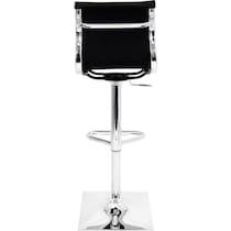 pierce black and chrome bar stool