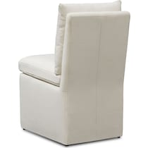 plush side chair white side chair
