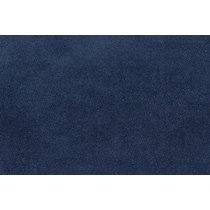 plush blue  pc sectional and ottoman