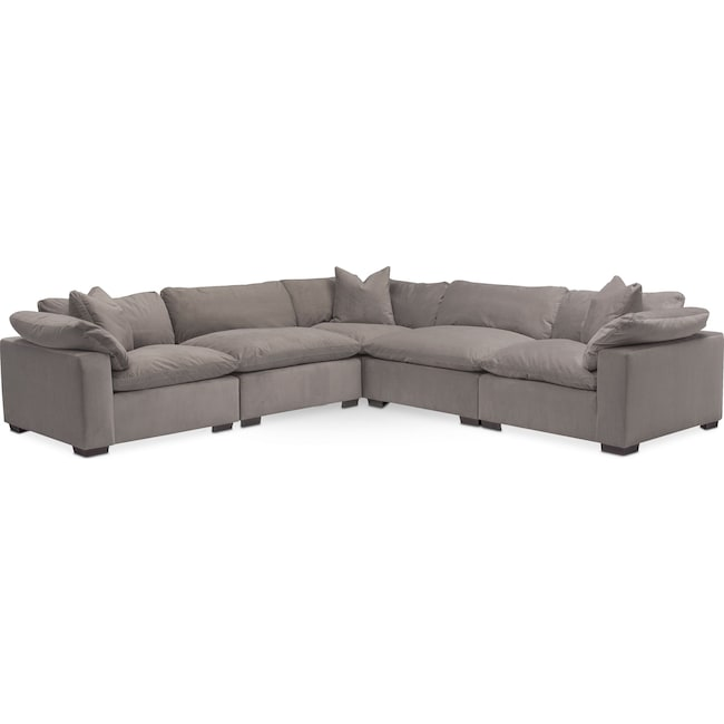 Living Room Furniture - Plush 5-Piece Sectional
