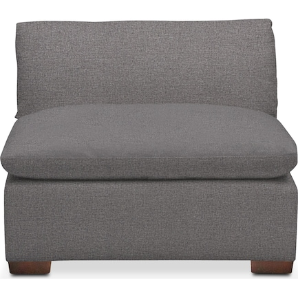 Plush Feathered Comfort Performance Fabric Armless Chair - Benavento Stone