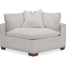 plush gray corner chair