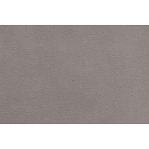 plush gray ottoman
