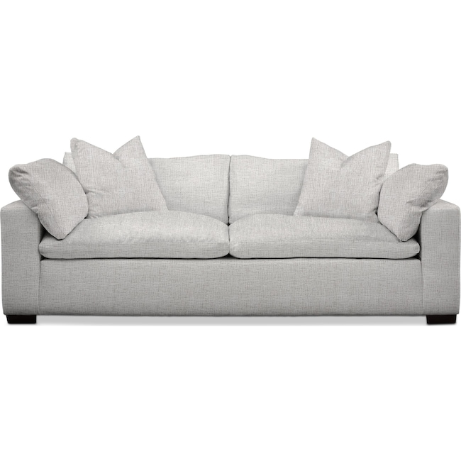 Living Room Furniture - Plush Sofa - Gray