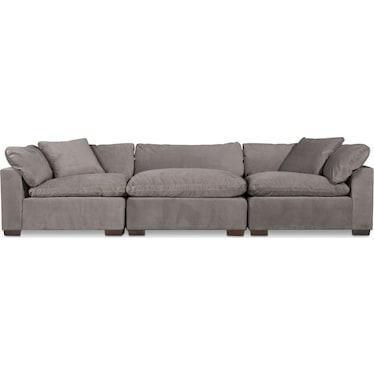Plush 3-Piece Sofa - Abington Fog