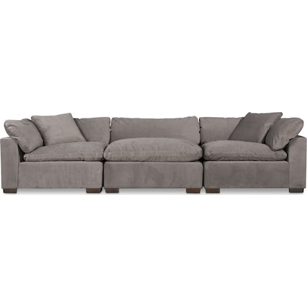 Plush Feathered Comfort 3-Piece Sofa - Abington Fog