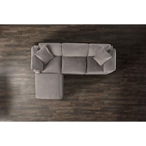 plush gray sofa