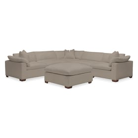 Plush Performance 5-Piece Sectional with Ottoman
