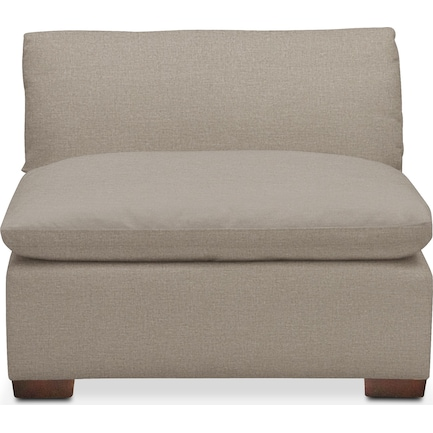 Plush Feathered Comfort Performance Fabric Armless Chair - Benavento Dove