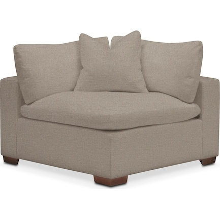 Plush Feathered Comfort Performance Fabric Corner Chair - Benavento Dove