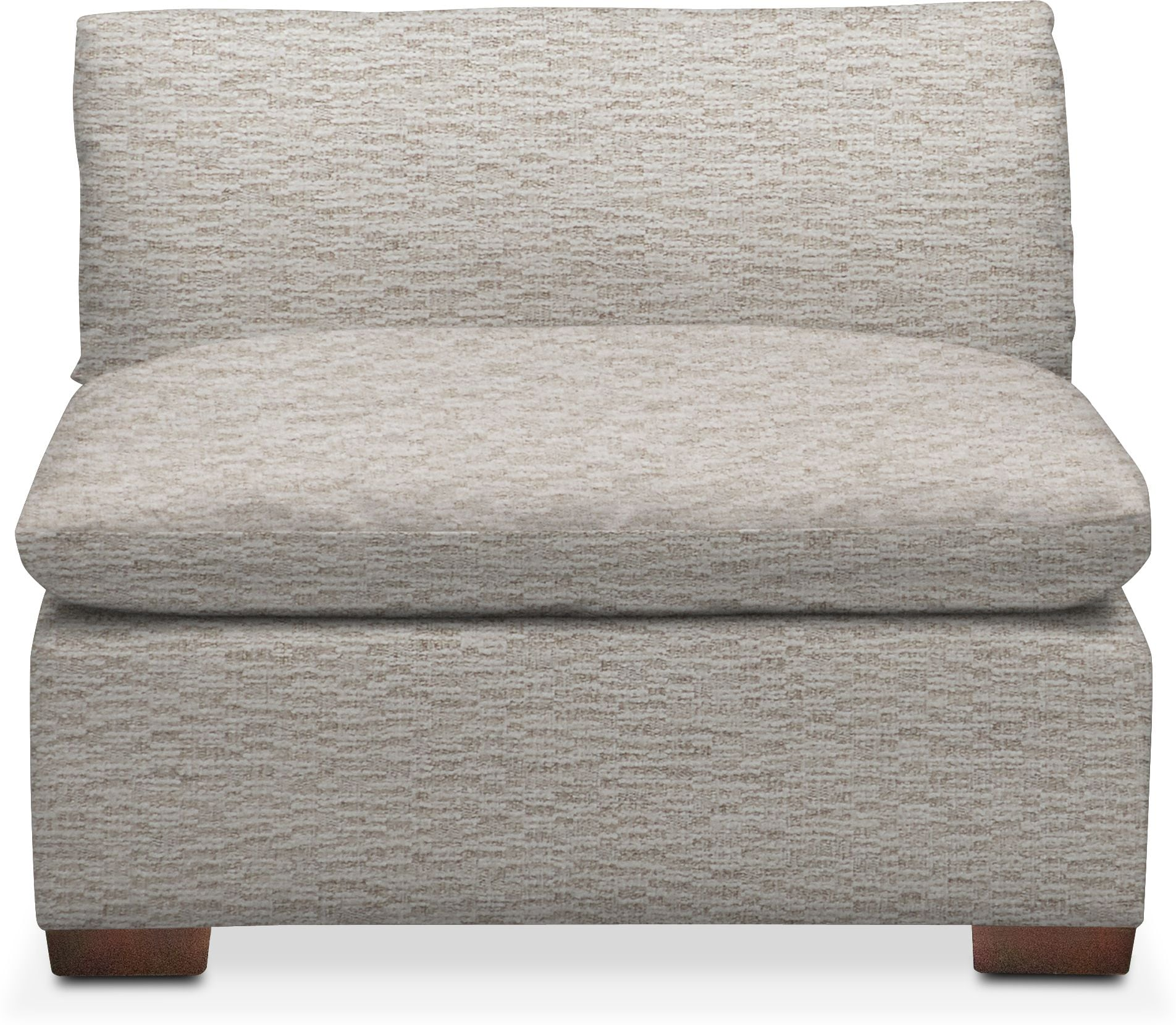 Living Room Furniture - Plush Armless Chair
