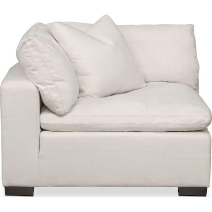 Plush Feathered Comfort Corner Chair - Ivory