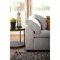 plush white corner chair