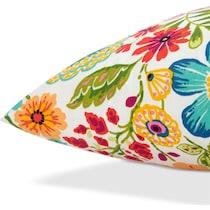 poppy multicolor outdoor pillow