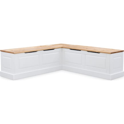 Porter Corner Storage Bench - Natural