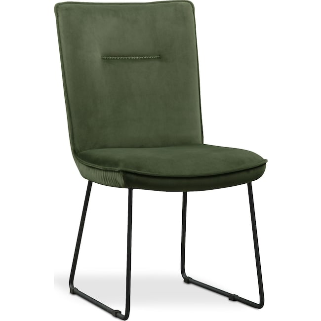 Dining Room Furniture - Portland Upholstered Dining Chair - Hunter Green