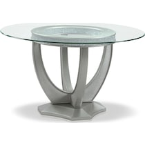 posh silver  pc dining room