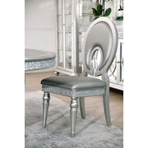 posh silver dining chair