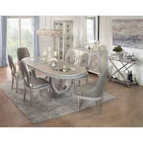 posh silver dining table