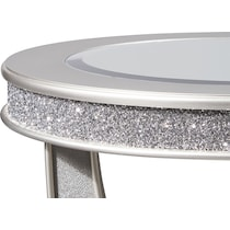 posh silver end table