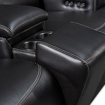 preston black  pc power reclining living room