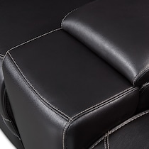 preston black  pc power reclining sectional