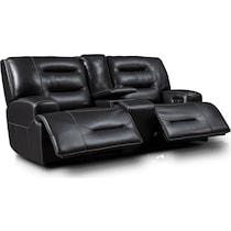 preston black power reclining loveseat