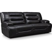 preston black power reclining sofa