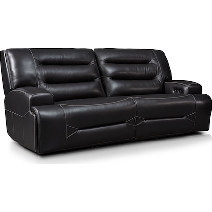 Preston Dual-Power Reclining Sofa - Black