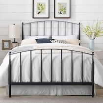 raven black queen bed
