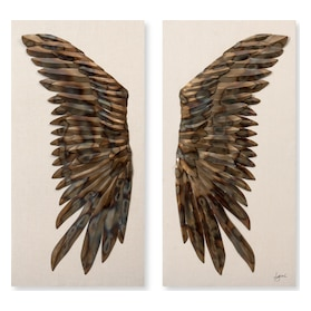 Raven Wings Set of 2 Wall Art