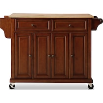 ravenna dark brown kitchen cart