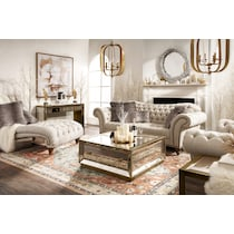 reflection antiqued mirror console table