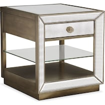 reflection antiqued mirror end table