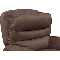 regis dual power brown recliner