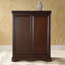 renzo dark brown bar cabinet