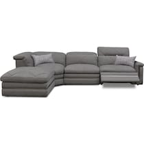 revel gray  pc power reclining sectional