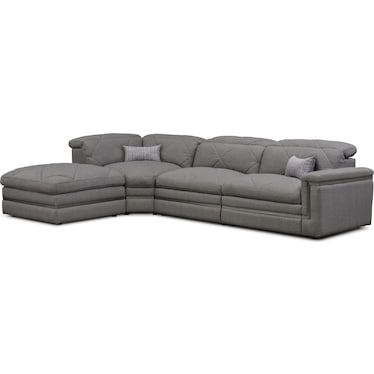 Revel 3-Piece Dual-Power Reclining Sectional with Ottoman and 2 Reclining Seats