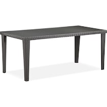 rex brown outdoor dining table