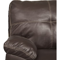 ricardo brown living room dark brown loveseat