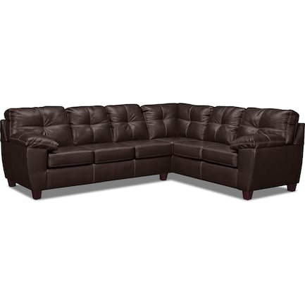 Ricardo 2-Piece Foam Sleeper Sectional with Right-Facing Sofa - Brown