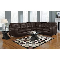 ricardo brown dark brown  pc sectional