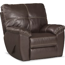 ricardo brown dark brown glider recliner