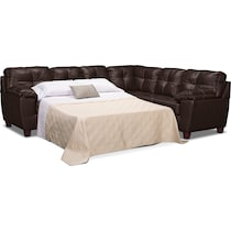 ricardo brown dark brown sleeper sectional