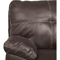 ricardo brown dark brown sleeper sectional