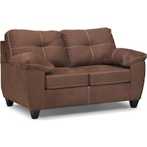 ricardo coffee dark brown loveseat